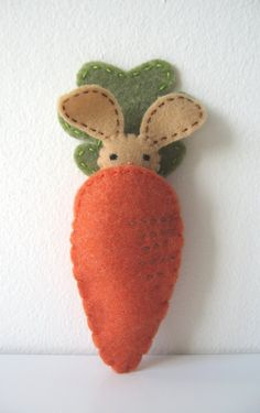 bunny with carrot pocket from Etsy...these would be so simple to make and would be a cute page in a quiet book!