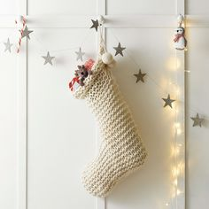 Chunky Knit Stocking | The White Company #whitechristmaswishlist Love love love love love this! Perfect for A