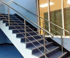 Full size of creative of stainless steel stairs design in interior ideas with staircase care decorating Steel Railing Design, Metal Deck Railing, Staircase Railing Design, Balcony Railing Design, Stair Handrail, Hand Railing, Iron Railings, Banisters, Balustrade Inox