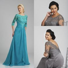 Plus Size Mother Of The Bride Dresses 2015 Custom Made Half Sleeve Scoop Lace Satin Evening Mother Gowns from Glamorousqueen,$84.38 | DHgate.com