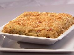 Baked Mashed Potatoes, with Pancetta, Parmesan Cheese, and Breadcrumbs recipe from Giada De Laurentiis via Food Network
