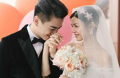 Michelle Chen and Chen Xiao hold lavish wedding celebrations in Beijing and Taipei. Celebrity Couples, Celebrity Weddings, Celebrity News, Wedding Photoshoot, Wedding Shoot, Wedding Dress, Michelle Chen, Korean Wedding Photography, Cute Couples