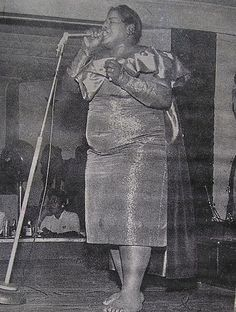 This photo of Big Maybelle (born Mabel Louise Smith in Jackson, Tennessee) appeared in a 1956 issue of Jet magazine.  Classic Ladies of Color