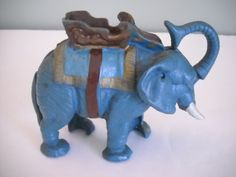 Mechanical Bank  Elephant by RicAndTami on Etsy