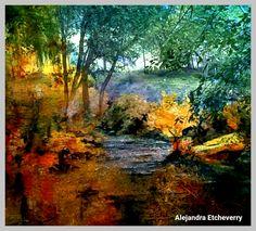 Paraje de otoño - Fotografía de doble exposición - Autora: Alejandra Etcheverry