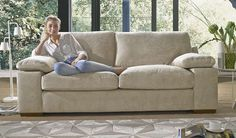 This is sure to get your senses in a spin. Fantastic value for money and with a sofa bed as an extra feature this is a range that will adapt to any situation. The sofa bed is available with a deluxe mattress to give another level of comfort.This fabric sofa has beautiful wooden feet that give the ultimate in design and support. The deep seating and soft arm pads cry relaxation to the hilt. A sofa that comes in a range of colours and exclusive to Sofaworks, there is one that is right for you…