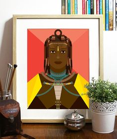 African Beauty Collection Red Poster