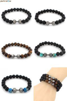 86140734d86a  Visit to Buy  2017 Natural Stone Buddha Charm Bracelets Tiger Eye Stones  Beads Bracelets