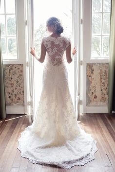 Jane Austen Wedding Inspiration | Burnett's Boards. Love this dress!