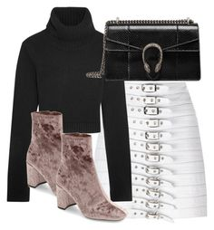 """""""Untitled #2844"""" by theeuropeancloset ❤ liked on Polyvore featuring Manokhi, Michael Kors, Jeffrey Campbell and Gucci"""