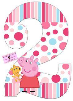 Risultati immagini per peppa pig cumpleaños png Peppa Pig Birthday Invitations, Pig Birthday Cakes, 2nd Birthday Parties, Birthday Party Decorations, Party Themes, Birthday Cards, Bolo Da Peppa Pig, Peppa Pig Teddy, Cumple Peppa Pig