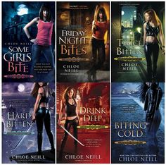 Chicagoland Vampires series by Chloe Neill. Covers shown are #1-6. The next series I'm gonna start on after Morganville.