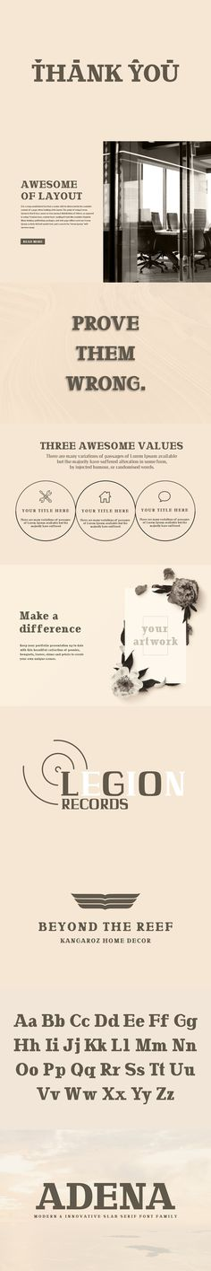 Adena is a modern and innovative round slab serif typeface that will make your design fresh and unique. It includes uppercase, lowercase, number, punctuation, Best Serif Fonts, Slab Serif Fonts, Serif Typeface, Creative Design, Your Design, English Characters, Web Layout, Stencil Designs, Font Family