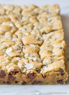 Best Ever Salted Caramel Chocolate Chip Cookie Bars | ASpicyPerspective.com