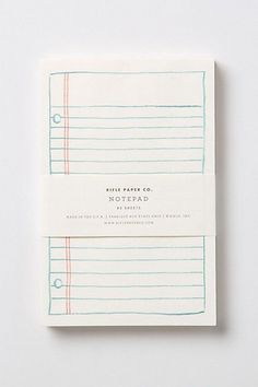 schoolyard notepad by Rifle Paper Co.