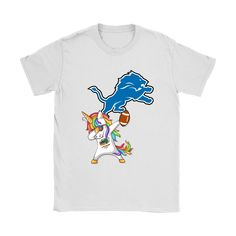 Dabbing Hip Hop Unicorn Dab With Detroit Lions Football Shirts