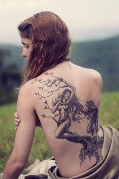 Woman tree tattoo