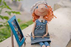 Купить Люсиль - интерьерная кукла, текстильная кукла, авторская кукла, коллекционная кукла, кукла