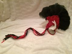 #BlackandRed #Beaded #Feather #HandFan. #Burlesque #Vintage #Costume #Accessory