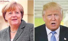 Merkel pide una cita con Trump