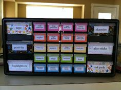 """""""My new teacher organizer for my desk! Organization gives me warm and fuzzy feelings."""" Don't know if I feel THAT strongly about it, but this looks useful. Preschool Classroom, Future Classroom, Classroom Ideas, Kindergarten, First Year Teachers, New Teachers, Teacher Organization, Teacher Tools, Whole Brain Teaching"""