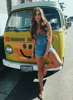 For the Love of All Things German and Air Cooled Volkswagen Minibus, Vw T1, Vw Camper, Campers, Racing Moto, T6 California, Hot Vw, Bus Girl, Tumbrl Girls