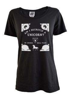 Am I Secretly A Unicorn Scoop Neck T-Shirt