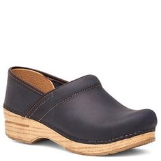 Dansko Professional Oiled Leather Indigo Clogs - HappyFeet.com