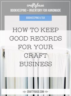 How to keep good records for your Craft Business - Business Plan - Ideas of Tips On Buying A House - How to keep good records for your Craft Business Business Planner, Business Advice, Online Business, Business Notes, Business Help, Craft Business, Creative Business, Starting An Etsy Business, Diy Gifts To Sell