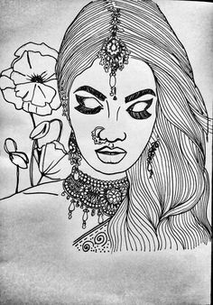 #indiangirl #drawing #sketches #jewellery