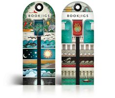 After designing print materials for Bookjigs bookmarks, Modern8 pitched the brand on a redesign of the product itself. The result was a series of 30 bookmarks centered around five different themes, which then extended to packaging and point-of-sale graphics.