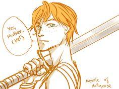 Merric of Hollyrose --drawn by Minuiko