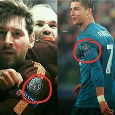 Yes we know about the badges but let's not forget the guy trying to bite Messi Messi Vs Ronaldo, Ronaldo Football, Ronaldo Juventus, Cristiano Ronaldo 7, Lionel Messi, Funny Soccer Memes, Funny Memes, Cr7 Wallpapers, Ronaldo Wallpapers