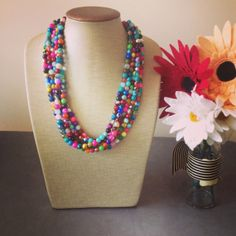 Confetti Statement Necklace by icravejewels on Etsy, $58.00