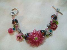 Handmade lampwork glass bead  sterling by CindyHarperDesigns, $118.00