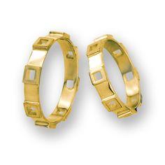 obrączki z żółtego złota (OB 12) - szerokość 3,5 mm