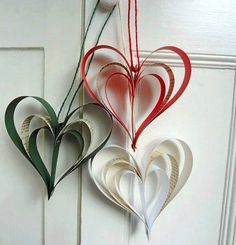 Craft Activities, Preschool Crafts, Crafts For Kids, Arts And Crafts, Paper Ornaments, Christmas Ornaments, Independence Day Theme, Republic Day, Paper Hearts