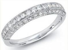 DIAMOND WEDDING BAND 18K WHITE GOLD