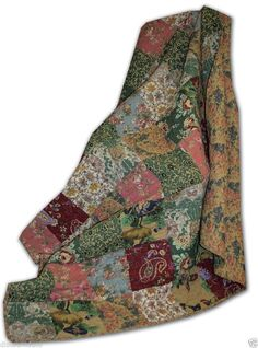 """Greenland Antique Chic Reversible Floral and Paisley Throw Blanket 50""""  -  Lot 1 #GreenlandHomeFashions #Cottage"""