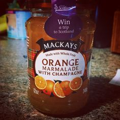 Bought this at World Market and it's so yummy! #MacKays #marmalade #champagne