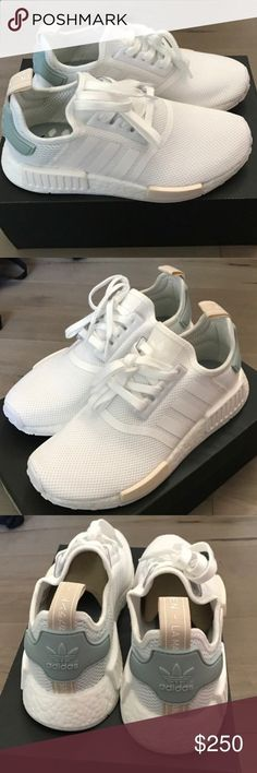 Adidas NMD Adidas NMD In White size 7.5 women. Brand new w tag and box. 100 percent Authentic. This shoe run big. You can wear same size or Half Size down. Adidas Shoes Sneakers