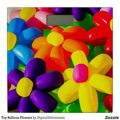 Toy Balloon Flowers Bathroom Scale