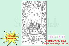 Cute Printable Personal Size COLORING Page by SweetestChelle Colouring, Coloring Pages, Planner Dashboard, How To Draw Hands, Printables, Handmade Gifts, Cute, Etsy, Quote Coloring Pages