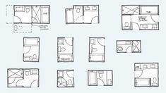Common Bathroom Floor Plans: Rules of Thumb for Layout – Board & Vellum Small Bathroom Floor Plans, Bathroom Layout Plans, Master Bathroom Layout, Small Floor Plans, Bathroom Design Layout, Tiny House Bathroom, Bathroom Design Small, Bathroom Ideas, Small Bathrooms