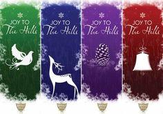 Joy To The Hills! Beverly Hills 2013 holiday banners.  #joytothehills