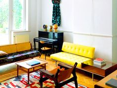 Shop the Room: An Eclectic and Modern Sitting Room via @MyDomaine