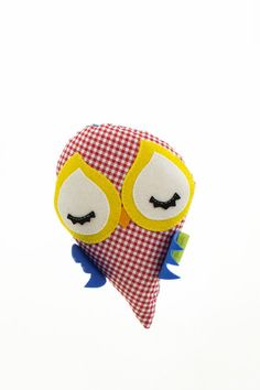 Little Canary Pillow Red  Length 20cm, Width 20cm  Shop at www.pakepake.com