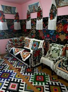 Folk, Gift Wrapping, Embroidery, Quilts, Blanket, Bed, Inspiration, Europe, Decoration
