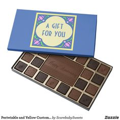 Periwinkle and Yellow Customizable Chocolate Box