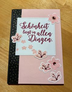 """Ein Notizbuch mit dem Stampin Up Set """"Farbenspiel"""" verschönert."""